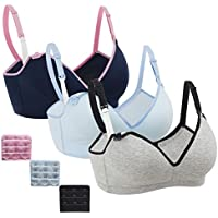 3Pack Nursing Bra,Womens Maternity Breastfeeding Bra Wireless Sleeping Bralette with Extenders