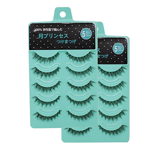 Scala 10 Pair 3D Short eyelashes Crisscross Short False Eyelashes Lashes Nature Looking Fake Eyelashes Set (L-122 Packs)