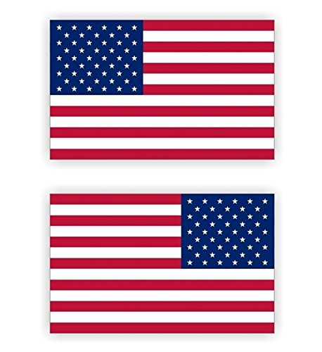 2 Pcs Inspiring Unique American Flag Window Sticker Mac Macbook Laptop Luggage Wall Graphics Helmet Badge Emblem Decals Decor Vinyl Art Stickers Decal Patches Size 3-1/2