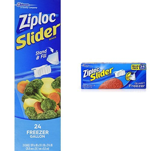 ziploc slider gallon freezer - 9