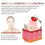 Near Infrared Red Light Therapy Heat Lamp for Joints Pain Relief Home Back Shoulder Anyork Adjustable Angles and Heights