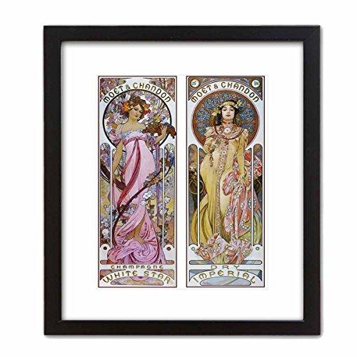 Decorative Art Nouveau Advertisement Reprint: Alphonse Mucha Collection ~ MOET & CHANDON - Champagne (8