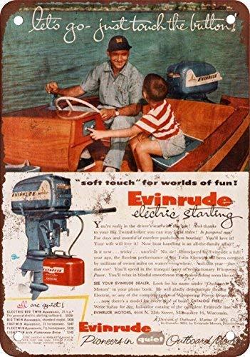 Amazon com: 1955 Evinrude Outboard Motors Vintage Look Reproduction