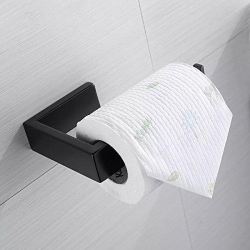 BigBig Home 2 pcs Bathroom Hardware Set Towel Bar Set Black, Stainless Steel Wall Mounted Lavatory Shower Furniture Towel Rack Holder best