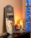 Traditional Holiday Snowman Wall Decor