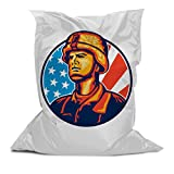 Branded Bean Bag with Printed Soldier (3' x 4.4')