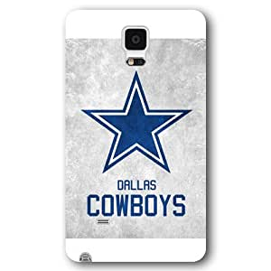 Onelee Customized NFL Series Case for Samsung Galaxy Note 4, NFL Team Dallas Cowboys Logo Samsung Galaxy Note 4 Case, Only Fit for Samsung Galaxy Note 4 (White Frosted Shell)