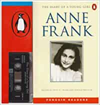 ANNE FRANK The Diary of a Young Girl book and cassette