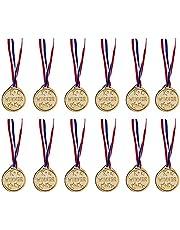 12 Pack - Gold Award Winner Medals for Kids Bulk