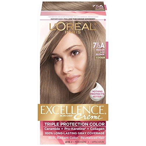 L'Oreal Paris Excellence Creme, 7.5A Medium Ash Blonde, (Packaging May - Colour Blonde Hair