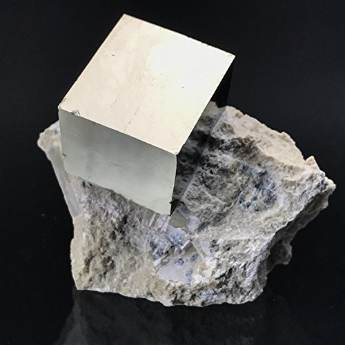 Pyrite Cube on Basalt From Navajun, Spain - PB5 by Astro Gallery Of Gems