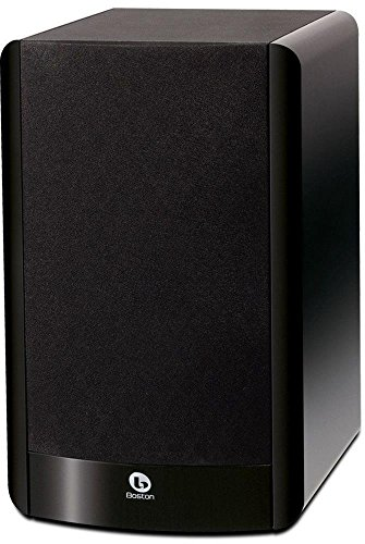 Boston Acoustics A 26 Two Way Bookshelf Speaker with 6.5 Inch Woofer  Each, Gloss Black