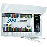 LolliZ 300 Palos de Piruleta o CakePop, 10 cm. 300 piezas dispuestas en una bolsa con cierre. Adecuado para el contacto con alimentos