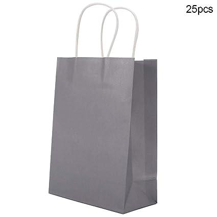 Papel Kraft, Bolsas de Papel de 25 Piezas 16 x 21.8 x 8 cm ...