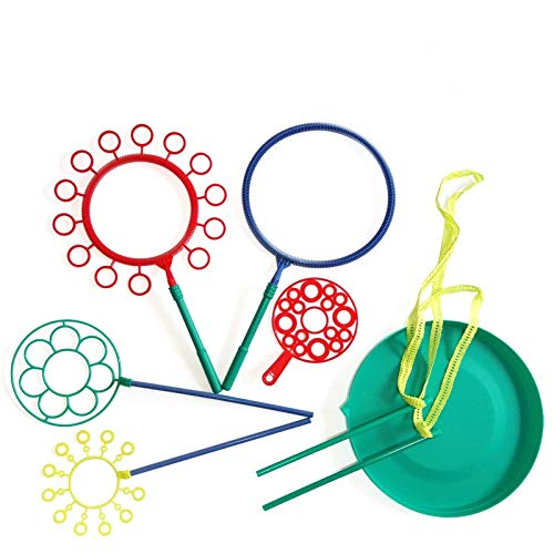 AWESOME FUN GIANT BUBBLE WAND ASSORTMENT(7 PIECE SET) For Creating Especially GIANT BUBBLES, Kids Love Them Very Much.