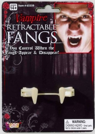 [Forum Novelties Inc - Retractable Vampire Fangs Adult] (Retractable Vampire Fangs)