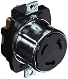 Hubbell HBL3769 Locking Receptacle, 50 amp, 250VDC/600VAC, 3 Pole, 4 Wire