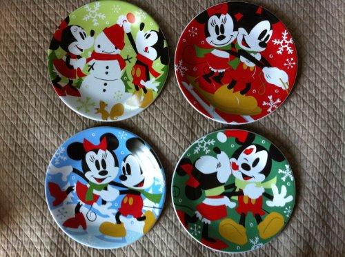 Disney Collectible Plates (Disney Store 2011 Dessert Christmas Plates - Set of 4)