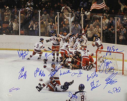 1980 USA Hockey Team Autographed Miracle on Ice 16x20 Photo 15 Sigs JSA