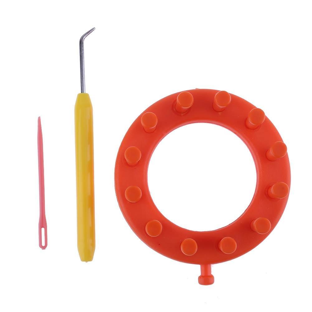 Arancione UEB Telaio Circolare per Maglieria Kit di Attrezzi per Bricolage Cappello Sciarpa