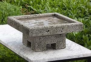 Campania International B-132-AS 1-Piece Kosei Birdbath, Alpine Stone