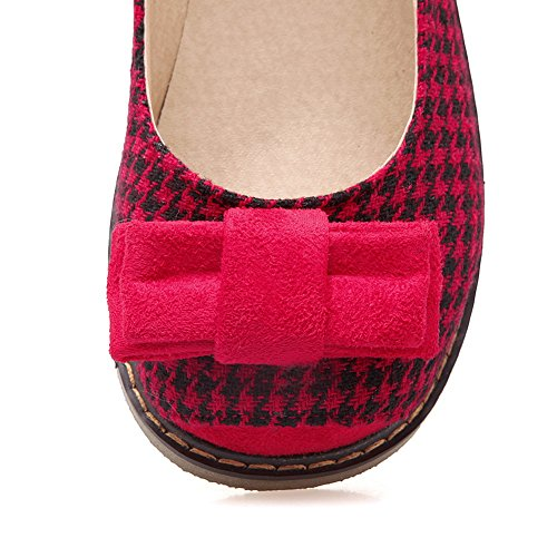 Ladies On BalaMasa Red Round Assorted nbsp;Color Pull Shoes Toe Flats Urethane qwd7Cw