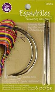 Dritz 6 Count Espadrilles Needles, Assorted