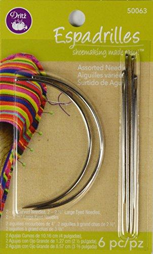 Dritz 50063 6 Count Espadrilles Needles, Assorted
