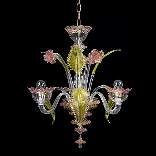 torcè lámpara de cristal de Murano 3 luces: Amazon.es ...