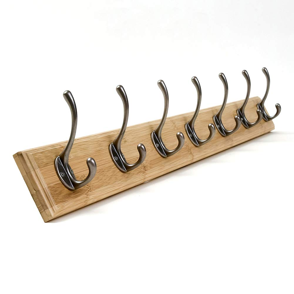 J 86.8x8x1.2cm(34x3x0inch) Coat Rack Wall,Bathroom Coat Hook,Vintage Hooks Entryway Wood Hanger for Home Office or Dorm Room Easy Assembly-L 99.6x8x1.2cm(39x3x0inch)