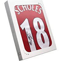 $236 » Paul Scholes Signed Manchester United Soccer Jersey. In Gift Box