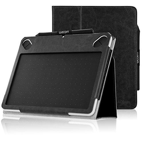 Wacom Intuos CTL 490DW Case, ACdream Folio Premium Leather Tablet Case for Wacom CTL-490DW Intuos Draw Graphics Pen Tablet/Wacom CTL-490DB-S Intuos Draw Graphics Pen Tablet, Black
