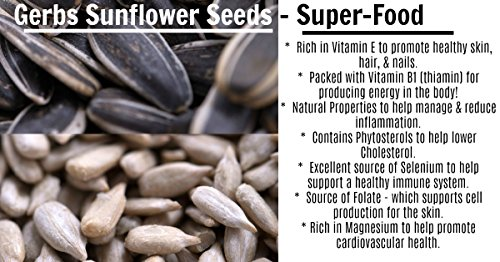 GERBS Unsalted Whole Sunflower Seeds by 4 LBS - Top 12 Food Allergy Free & NON GMO - Vegan & Kosher - In-Shell Dry Roasted Seeds Grown in USA by GERBS (Image #2)'