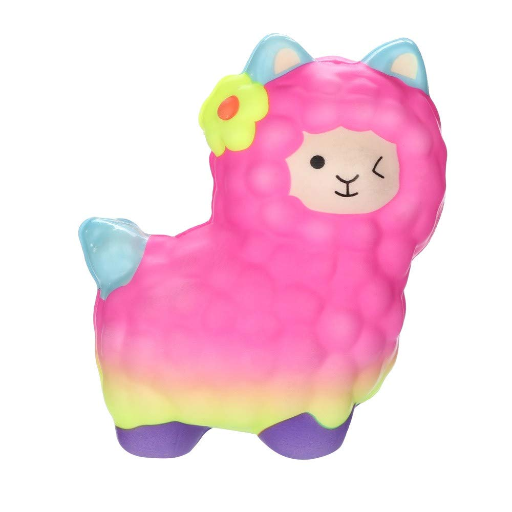 callm Squishies Llamas Alpaca Slow Rising Jumbo Squishy Toys Kawaii Cute Scented Squishies Kids Party Squishy Stress Reliever Toy (A)