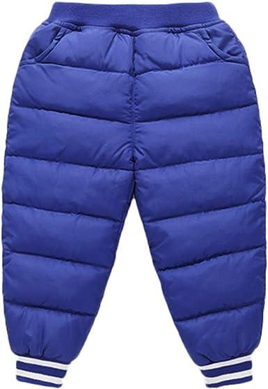 3 T Happy Cherry Kids Winter Pants Baby Boys Girls Windproof Down Pants Children Warm Snow Pants 6 M