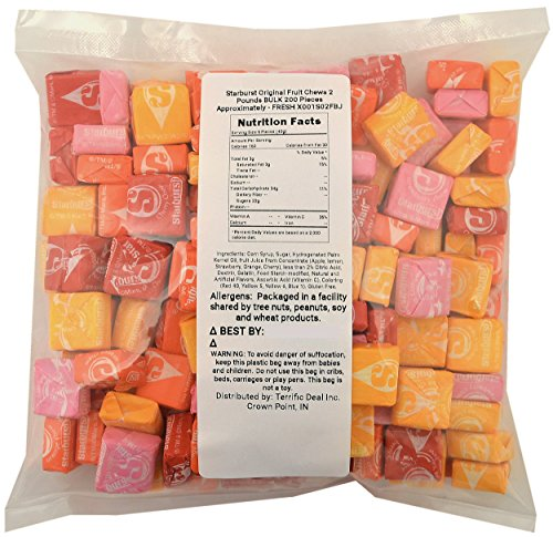 Starburst Original Fruit Chews 2 Pounds BULK 200 Pieces Appr