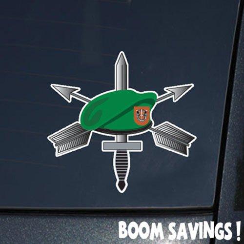 "US Army Vietnam Emblem Dagger Crossed Arrows 7th SFG Beret 6"" Decal Sticker"