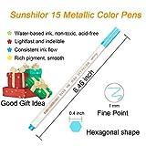 Sunshilor Metallic Markers Fine Point Metallic