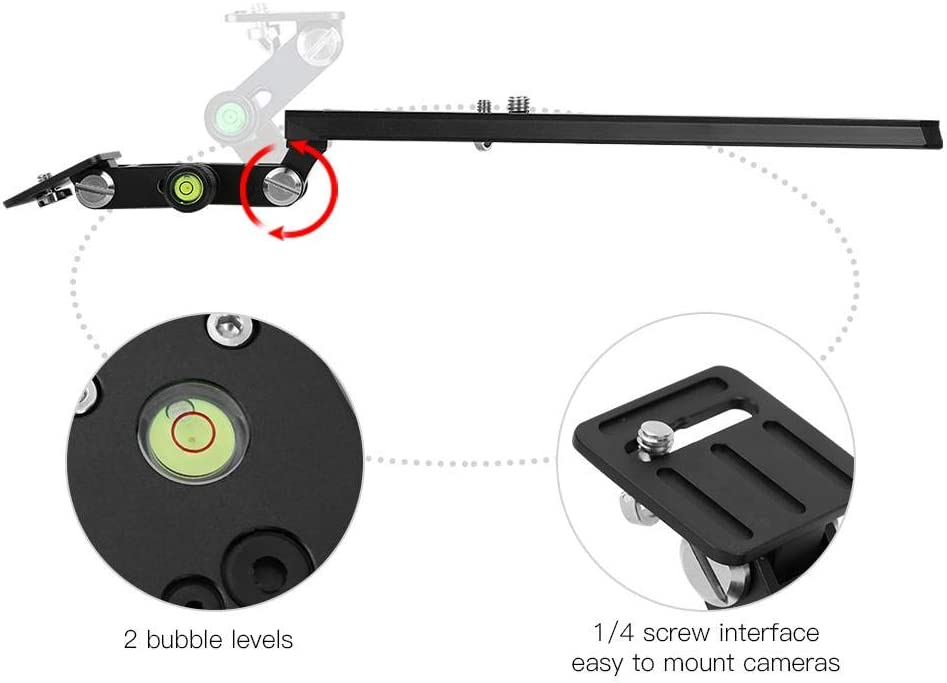 F250-50 Mugast Long Focus Quick Release Plate 120mm 250mm 400mm Telephoto Zoom Lens Bracket Set with 1//4 Screw for Bird Watching