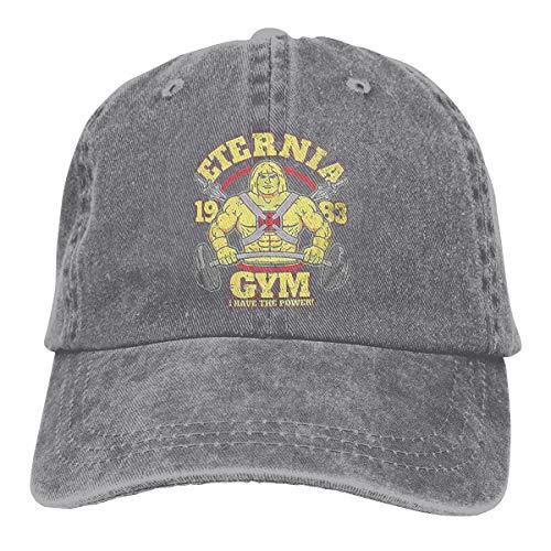 Zlizhi Masters of The Universe Eternia Gym Men Women Plain Cotton Adjustable Washed Twill Low Profile Baseball Cap Hat Gray