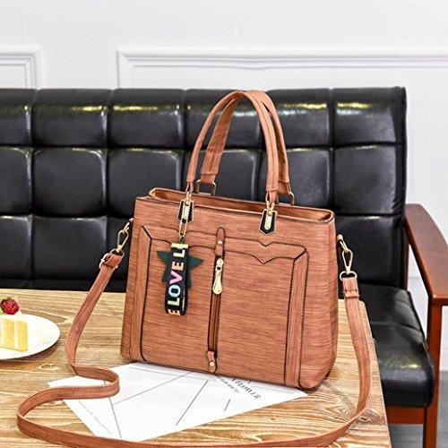 Coloré Tote Hand Bandoulière Femme Sac Bag à Été Chic OverDose Main Cuir Sacs Orange Bag 7XwZ4nqvx