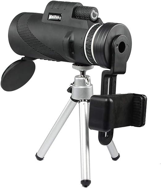 ZXASDC Telescopio monocular de 40 x 60 de Alta Potencia Prism con Adaptador para Smartphone, Impermeable para la observación de pájaros, la Caza, el Senderismo (Negro): Amazon.es: Hogar