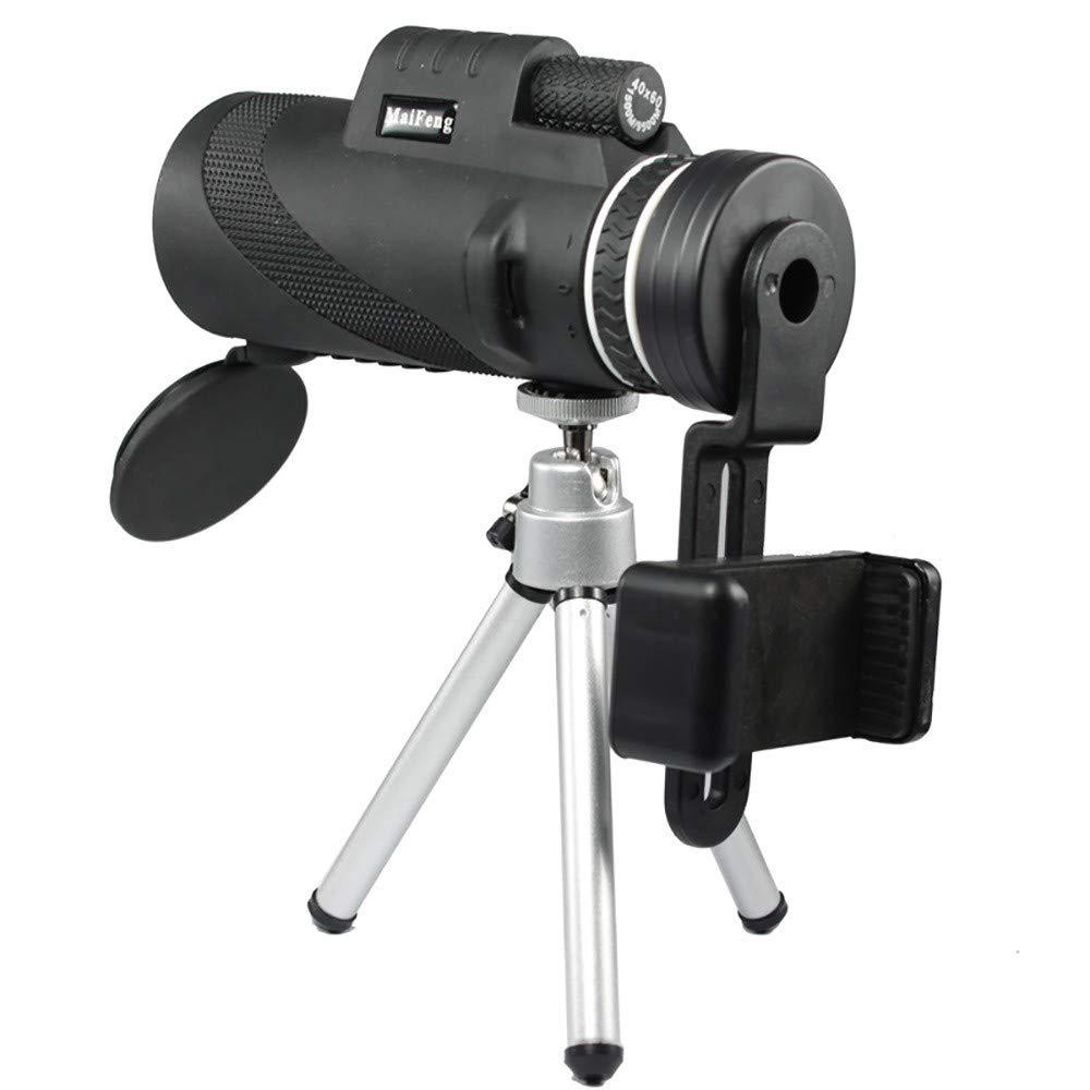 Caza Lenlun Telescopio monocular de Alta Potencia BAK-4 HD de 40 /× 60 con Soporte para Smartphone y tr/ípode Camping telescopio de Zoom Impermeable para observaci/ón de Aves