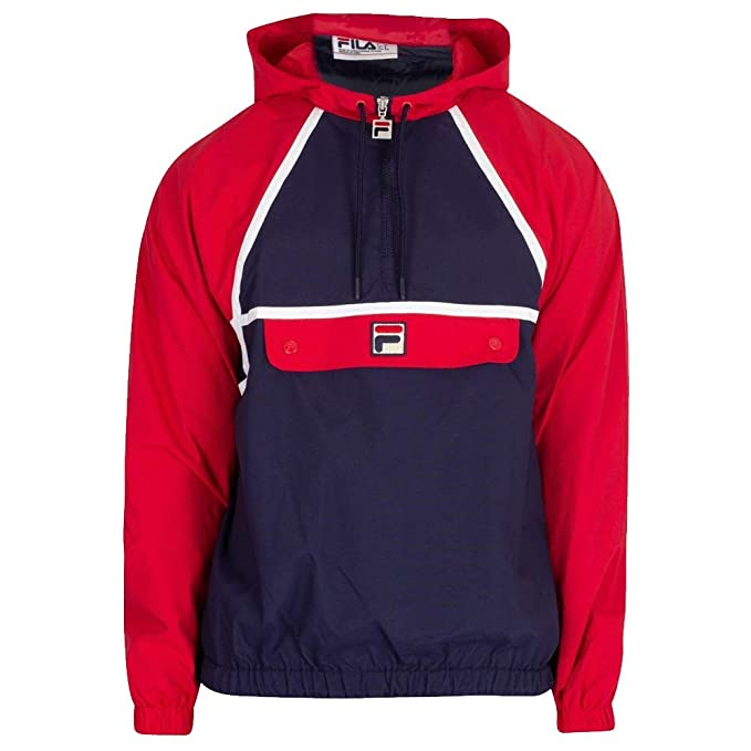 Fila Vintage Mens Astor Batwing Jacket, Blue at Amazon Mens Clothing store: