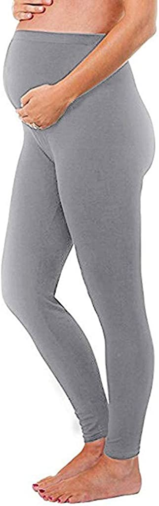 Huifa Women Maternity Leggings Seamless Solid Pants Stretch Ladies Trousers