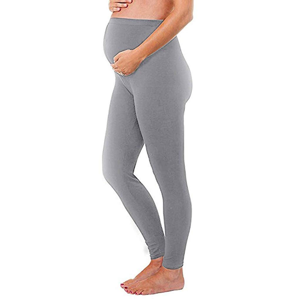 Womens Maternity Wide//Straight Versatile Comfy Lounge Pants Stretch Pregnancy Trousers CieKen Women Pregnancy Trousers