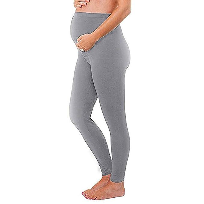 3f8763129 STRIR Pantalones de Maternidad Over Bump Polainas - Premamá Leggins Largos Mallas  Embarazo Maternidad Lactancia Deportivas