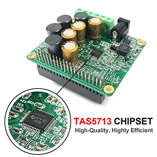 Innomaker RPI HiFi AMP HAT 25W Class-D Power Amplifier TAS5713 Expansion  Board Audio Module for Raspberry Pi 3 B+ Pi Zero Nichicon Capacitor