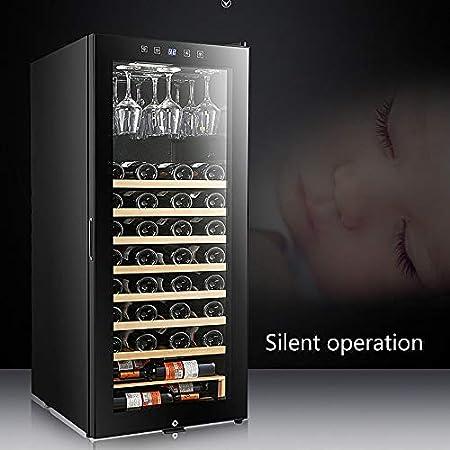 Refrigerador de Vino 57 Botellas- Enfriador de Vino/Vinotecas Independiente, hidratante a Temperatura Constante de 360 ° - Enfriador de Vino Mute, Negro