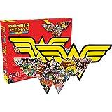 Aquarius Wonder Woman Logo 2 Sided Die cut Jigsaw Puzzle (600 Piece)
